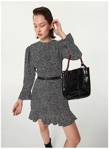 Twist Elbise Lacivert